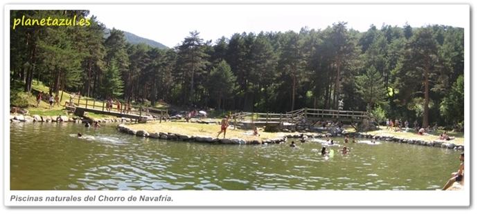 Cascada del chorro de navafr a for Piscinas naturales navafria